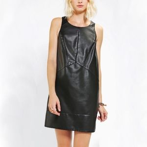 Silence and Noise Faux Leather dress